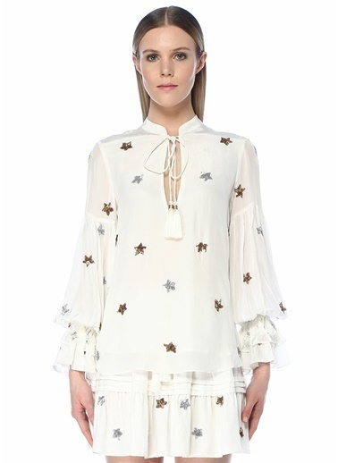 Rococo Sand Bluz Beyaz